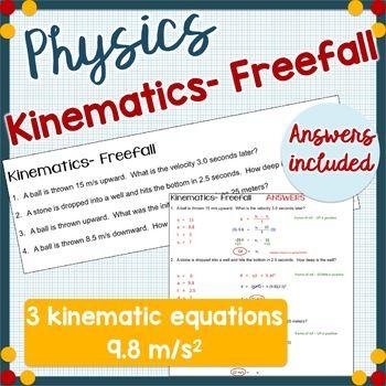 Kinematics Freefall Physics Physics Physics Problems Physics High School