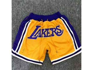 Los Angeles Lakers Gold Throwback Short Jersey Heights Lakers Shorts Lakers Outfit Designer Shorts