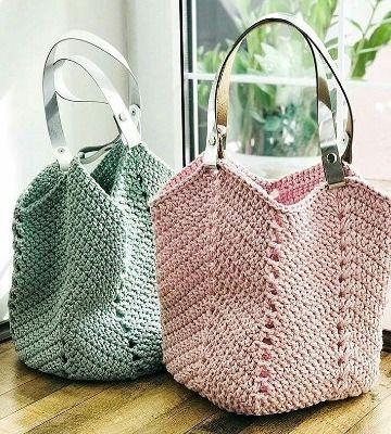 muy baratas auténtico mejor selección de 2019 Grandiosos diseños de bolsas tejidas a crochet paso a paso ...