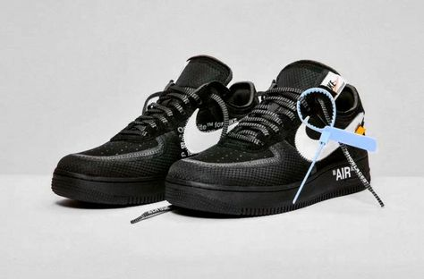 Где купить кроссовки Off White x Nike Air Force 1 «Black» и