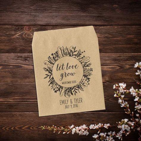 Let Love Grow Favor, Seed Packet Favor, Rustic #letlovegrow #wildflowers #rusticwedding #bohowedding #ecofriendlywedding #seedseedpackets #seedpacket #seedfavor #weddingfavor #weddingseedpacket #seedpacketfavor #seedweddingfavor #letlovegrowfavor