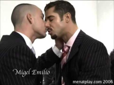 Men at play Dean Monroe gay kiss sexy