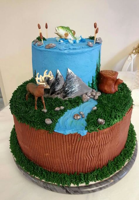 Prime Hunting And Fishing Birthday Cake Hunting Birthday Cakes Fish Funny Birthday Cards Online Barepcheapnameinfo