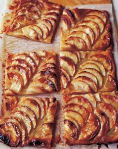 Tart French Apple Tart from The Barefoot Contessa, Ina Garten. (Making these as individual tarts using prepared pie crust.)French Apple Tart from The Barefoot Contessa, Ina Garten. (Making these as individual tarts using prepared pie crust. Desserts Français, French Desserts, Delicious Desserts, Yummy Food, French Recipes, Plated Desserts, Apple Recipes, Sweet Recipes, Vegan Apple Tart Recipe