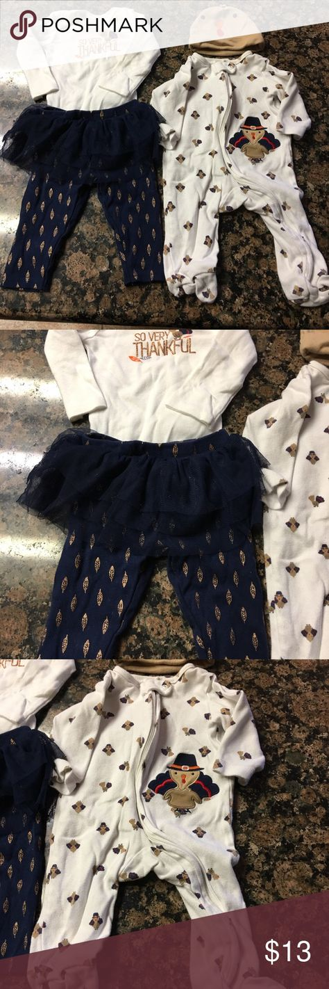 6efc2ad9a714 3 month baby girl thanksgiving bundle