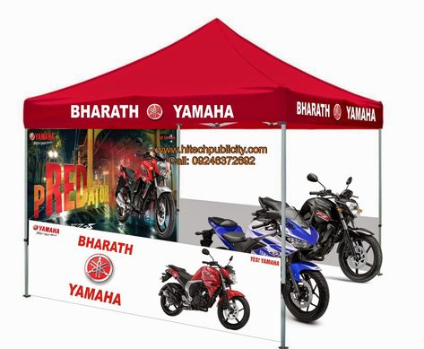 Bike Sales Tents Bike Display Tents We Supply Marketing Tents For Bike Dealers With Dealer Name Bike Photos Information Printing O Canopy Tent Yamaha Tent