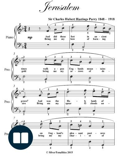 Jerusalem Easiest Piano Sheet Music With Images Sheet Music