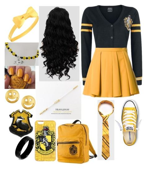 A fashion look from February 2017 featuring short skirts, converse sneakers and beaded jewelry. Browse and shop related looks. Harry Potter Dress, Harry Potter Style, Harry Potter Outfits, Movie Inspired Outfits, Disney Themed Outfits, Harry Potter Accessories, Fandom Fashion, Fandom Outfits, Halloween Kostüm