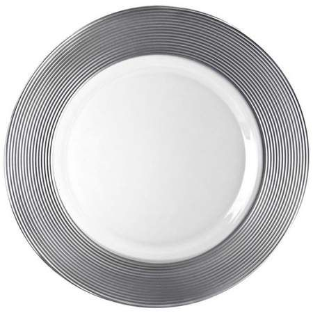 Silver Saturn Charger Plate In 2020 Charger Plates Wedding Glass Charger Plates Silver Charger Plates