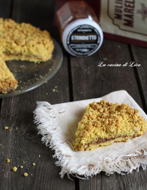 Sbriciolata con farina di mais e confettura di fragola