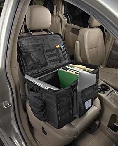 Front Seat Car Organizer and Travel Filing Cabinet for Police and Sales Reps Car Seat Organizer, police, law enforcement, Plain Sight Law Enforcement Gear, Police Gear, Police Officer Gifts, Police Gifts, Car Seat Organizer, Office Organization At Work, Car Office, 3d Modelle, Mobile Office