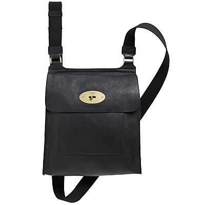 fe440045885 Buy Mulberry Antony Messenger Across Body Handbag, Black online at JohnLewis.com  - John Lewis