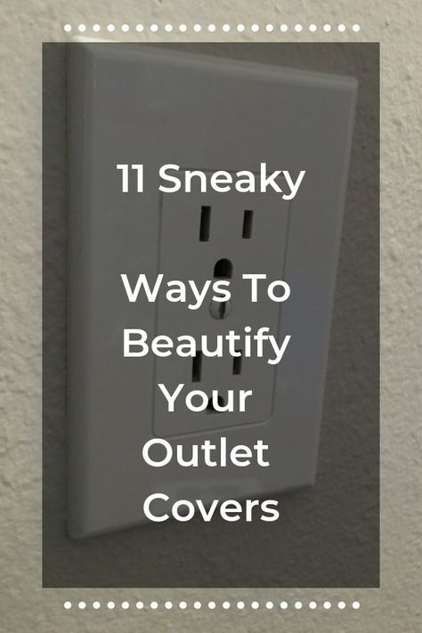 Outlet cover makeover ideas. Beautify your home with these 11 inspirational DIY home decor ideas! Easy mini home makeover ideas for the frugal homemaker. Thrifty ways to upgrade your wall outlets. 11 Hometalk DIY project from readers and bloggers you'll want to try!