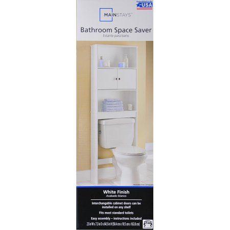 Mainstays Bathroom Space Saver White Walmart Com Bathroom Space Saver Space Savers Bathroom Space