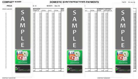 Subcontractor Payment Schedule Cost Control Templates Pinterest - construction schedules templates