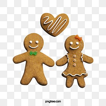 Three Dimensional Ginger Lover Stereoscopic Gingerbread Man Couples Png Transparent Clipart Image And Psd File For Free Download Gingerbread Man Gingerbread Christmas Illustration