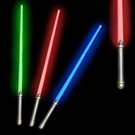 Fun Central X552 Led Light Saber 28 Assorted Colors 6 Pack Glow In The Dark Walmart Com Light In The Dark Kid Party Favors Lightsaber