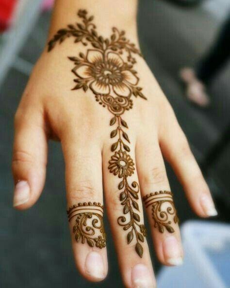 صور نقش الحناء Floral Henna Designs