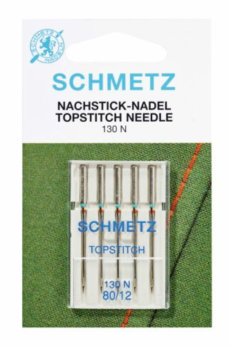 80//12 Schmetz Topstitch sewing machine needles pkt of 5