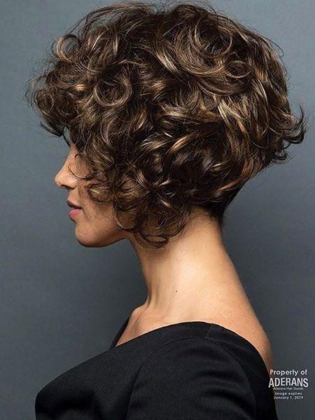 20 Kurze Bob Frisuren Fur Lockiges Haar Hot Hair Lockige Haare