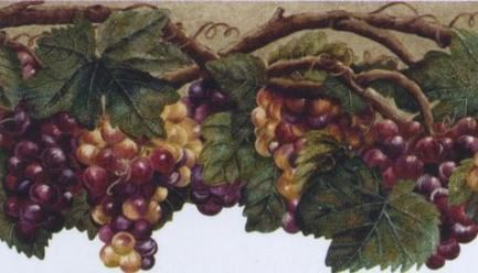 36 Ideas For Kitchen Wall Paper Borders Ivy Wine Wallpaper Tuscan Wine Wallpaper Border Kitchen