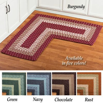 24 Chocolate L Shaped Corner Braided Rug Rugs L Shape