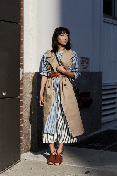 Sleeveless Trench - 60 Creative Outfit Ideas From New York Fashion Week - Photos