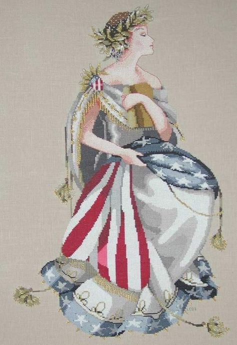 Queen of Freedom Cross Stitch Pattern