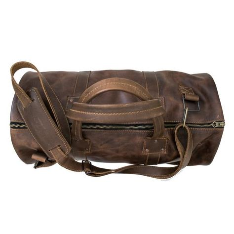 The perfect duffel for your weekend cabin getaway! Pack your favorite sweater in our handmade, full-grain leather duffel!