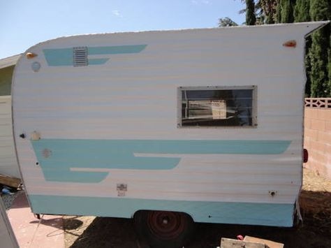 1963 Trailblazer Mini Camper Trailer Shasta Forester Canned Ham Rat Rod Custom