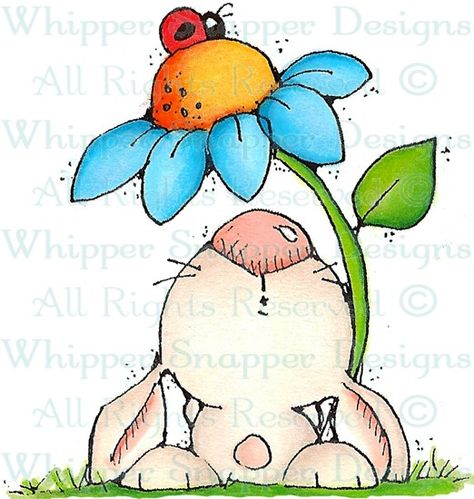 Chester - Rabbits - Animals - Rubber Stamps - Shop