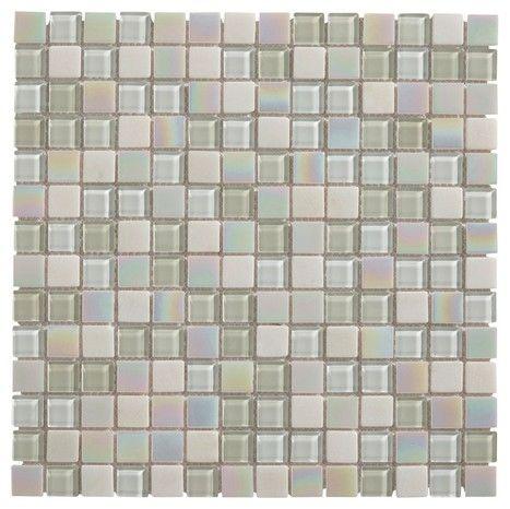 Mosaique En Verre Parmia Blanc 30 X 30 Cm Brico Depot Carreaux Mosaique Parement Mural Mosaique