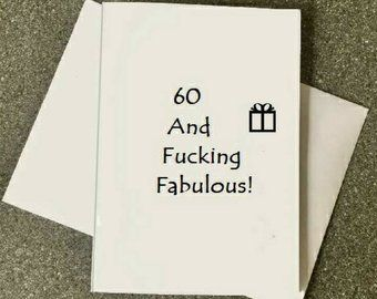 60th Birthday Card60th Card Mom60th Dad60th Funny