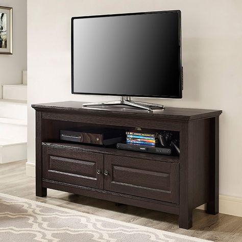 Walker Edison 44 In Cortez Wood Tv Stand Console Espresso