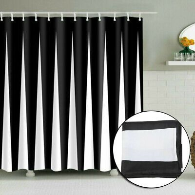 Details About Striped Printing Shower Curtain Waterproof W 12