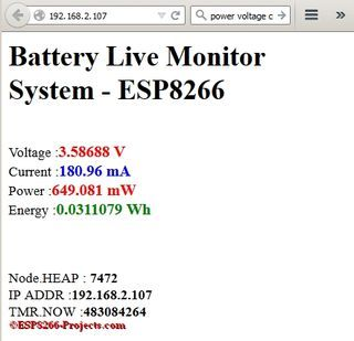 WIFI Battery Monitor System - ESP8266 | Technology | Arduino