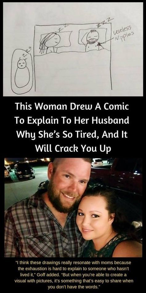 This #Woman #Drew A #Comic To Explain To Her #Husband Why She's So Tired, And It Will Crack You Up