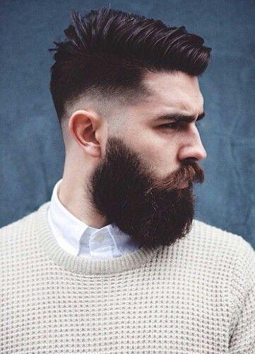 Corte Fade Con Barba