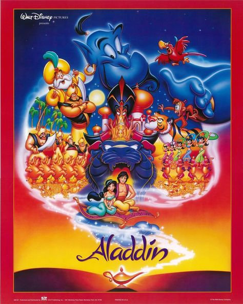 Vintage Disney Aladdin Movie Poster 16 x 20