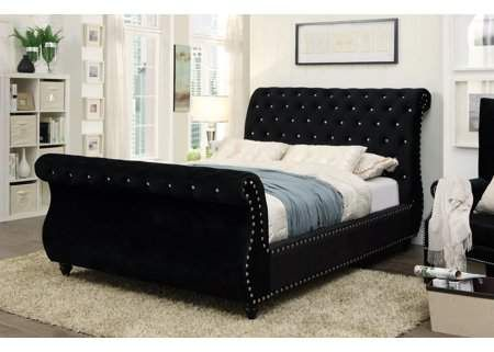 Home With Images Contemporary Sleigh Beds Black Bedding