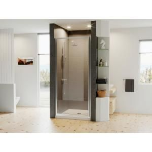 Aston Cascadia 23 In X 72 In Completely Frameless Hinged Shower Door In Chrome With Clear Glass Sdr995 Ch 23 10 The Home Depot Coastal Shower Doors Shower Doors Frameless Hinged Shower Door