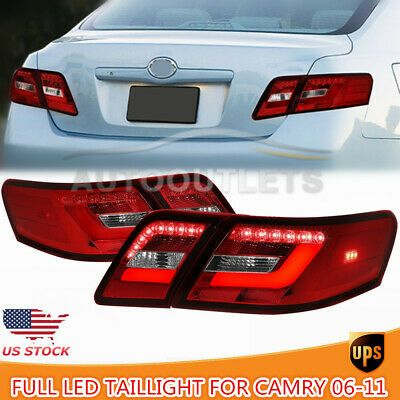 Ad Ebay Red Clear Full Led Taillight Assembly For Toyota Camry 06 11 Rear Dynamic Signal With Images Toyota Camry Camry 2011 Toyota Camry