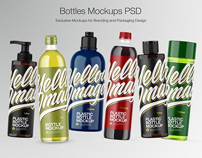 Bottles Mockups Http Be Net Gallery 79208203 Bottles Mockups Bottle Mockup Bottle Easy Food To Make