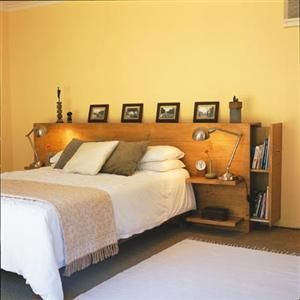 Diy Headboard With Shelves without the pull out storage on the sides. wonder how hard it