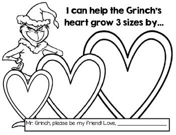 This Product Pairs Perfectly With The Dr Seuss How The Grinch Stole Christmas It Adds An Sel Component To Encourage Grinch Heart Grinch Heart Grew Grinch