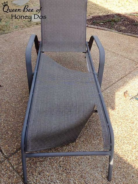 Repair Sling Chairs And Chaises Patio Furniture Makeover Patio