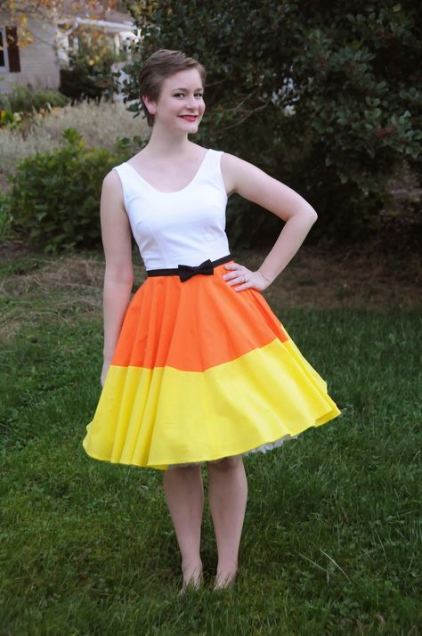 The Liveaboard Takes the Suburbs: Halloween Week Costume Series: Candy Corn Dress