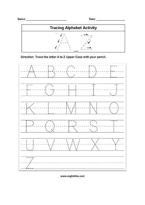 Tracing Alphabet Worksheets Alphabet Letter Worksheets Handwriting Worksheets For Kindergarten Letter Tracing Worksheets Printable alphabet trace worksheets