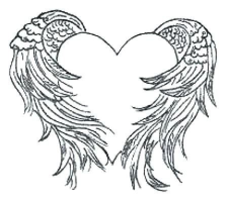 Coloring Pages Of Wings Heart With Wings Coloring Pages Photos Hearts With Wings Coloring Pa Wings Tattoo Heart With Wings Tattoo Guardian Angel Tattoo Designs