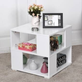 Foust End Table Square Wooden Coffee Table White Coffee Table Living Room Square Coffee Tables Living Room